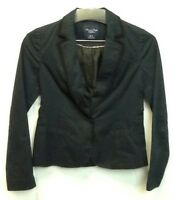AMERICAN EAGLE OUTFITTERS Lined Black Blazer Career Jacket Sz XS