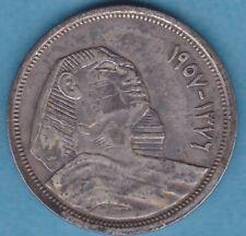 EGYPT - Egitto (First REPUBLIC) 5 Piastres-AH Poids 7,07  g Module 26 mm argent