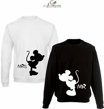 Coppia Felpe Minnie Topolino king queen amore idea regalo  san valentino