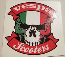 #04 - Skull Vespa scooters - 9,5x9 cm! pegatina autocollant sticker tuning Hot