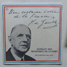 CHARLES DE GAULLE Memoires de guerre par JEAN AILLAUD