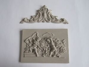DECORATIVE  FRENCH COUNTRY STYLE CHERUB WITH DETAIL FINISHING MOULDING/PLAQUE