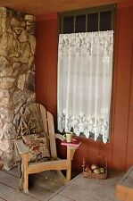 Woodland Pinecone White Lace Window 60 x 84 Panel by Heritage Lace