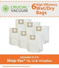 6 Shop Vac 10 12 14 Gallon Wet / Dry Vacuum Bags SV-9067200