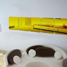 15*15/20*20cm Acrylic Mirror Tile Wall Sticker Adhesive Decal Living Room Decor