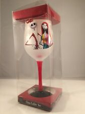 Nightmare Before Christmas Wine Goblet Glass Jack Skellington & Sally