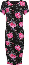Vestiti da donna a manica corta floreale multicolore