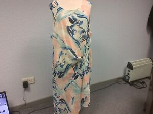 NEW! John Rocha at Debenhams Dress - Wedding - Cream/Pink/Blue - Sleeveless - 22