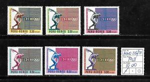 (56849) PERU AIR MAIL STAMPS #226/31 1968 OLYMPICS MNH SET