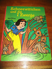 (E800) PAPP-KINDERBUCH SCHNEEWITTCHEN UND DIE 7 ZWERGE DISNEY BERTELSMANN 1983