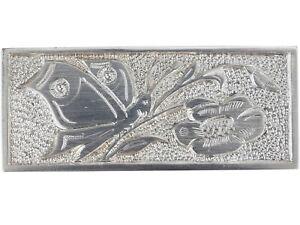 Art Déco C.H. Zimmer 835 Silber Schmetterling & Blume Damen Brosche!