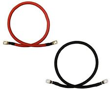 4 Awg Gauge Red + Black Pure Copper Battery Inverter Cables Solar Rv Car Boat.