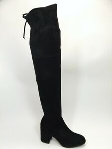 Catherine Malandrino Porcha Faux Suede Over-the-Knee Boots SZ 8.0 M, Blk  D13645