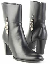 New ETIENNE AIGNER Women Comfort High Heel Mid Calf Side Zip Boot Shoe Sz 7.5 M