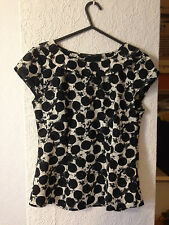 H&M black & white spotted printed top 8