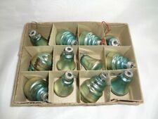12- VINTAGE MERCURY GLASS CHRISTMAS  TREE ORNAMENTS-ATOMIC GRENADES