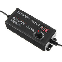 3V to 24V Adjustable 60W Universal Power Supply Adapter Stepless Voltage Adjust