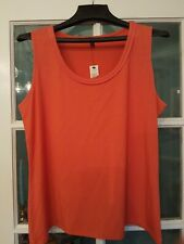 NWT Talbots Petites Womens XL Orange Tank Top Sleeveless Scoop Neck Cotton