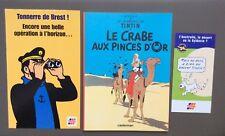 HERGÉ. Tintin le Crabe aux pinces d'or. Tirage publicitaire pour Total 2000