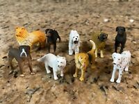 Safari LTD 9 Mini Dog Lot Dalmatian Sheepdog Collie Doberman Boxer Beagle Dane