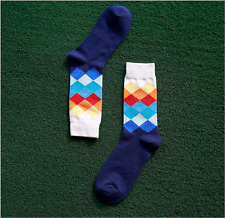 Men Women Cotton Stance Socks Combed Happy Colorful Socks Casual Dress Socks