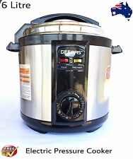 NEW  Stainless Steel Electric Pressure Cooker 6L Non-Stick 1000-1190W..,