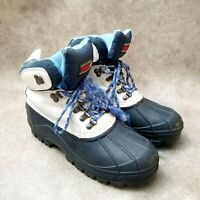 Lake N Trail Womens Blizzard 840223 Sz 9 M White Lace Up Insulated Snow Boots