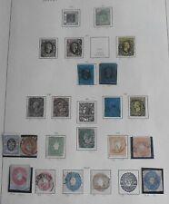 Briefmarken Altdeutschland SACHSEN , Lot ,Sammlung auf Vordruckblatt