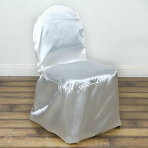 20 pc Ivory Satin Banquet Chair Covers Wedding Reception nu