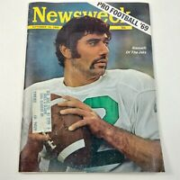 Newsweek Magazine September 1969 Pro Football '69 Joe Namath of the Jets