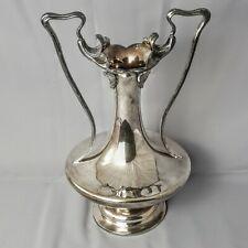 More details for barbour silver co quadruple plated 2083 art nouveau double handle trophy vase