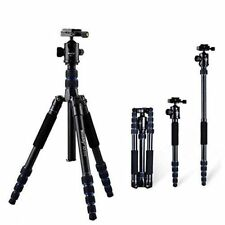 Camera Tripod Monopod Alpenstock with Ball Head, Aluminum Alloy Foldable Design