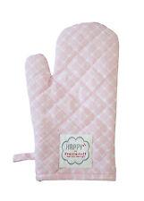 Krasilnikoff Ofenhandschuh Herzen Diagonal rosa, Topflapppen pink, Herz weiß