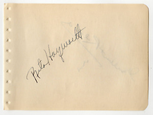 Rita Hayworth & Gilbert Roland signed autographed album page! Authentic! 861