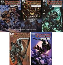 Dungeons & Dragons FORGOTTEN REALMS (5) Comic SET #1 2 3 4 5 cover B IDW D&D lot