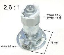 Kegelradgetriebe Kurbelgetriebe 2,6:1 SW40, SW60 Rolladen Kurbel Getriebe