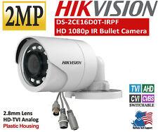 HIKVISION 2MP 1080p Bullet Camera2.8mm HD Analog TVI/AHDD-WDR IR 20m