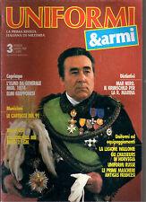 UNIFORMI & ARMI N°3/1989 ELMI GIAPPONESI AUTOBLINDA M8 LA LEGIONE WALLONE