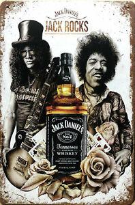 JACK DANIELS Rustic Look Vintage Tin Metal Sign Man Cave, Shed-Garage & Bar