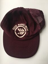 "Vintage Waste Management ""Recycle America"" Trucker Hat"