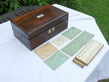 REGENCY. Rosewood Writing Slope with Secret Drawers & Contents. C1790 - 1830.