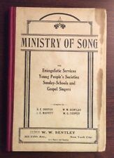 Ministry Of Song (1909, Hardcover) Dortch SheetNoteMusic.com Gospel Songbook