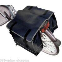 HEAVY DUTY BLACK LARGE WATER RESISTANT BICYCLE CYCLE PANNIER BAG REAR BIKE RACK