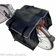 NEW BLACK BICYCLE BIKE CYCLE TWIN DOUBLE STRONG REAR PANNIER BAG WATER RESISTANT