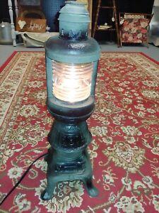 Unique folk art  Pot Belly Stove Lantern Lamp