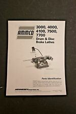 Ammco 3000 4000 4100 7500 Amp 7700 Disc Amp Drum Brake Lathe Parts Manual