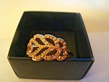 Palm Leaf Pave' Ring Size 10 New In Box