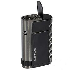 LOTUS MERCURY Dual Torch Butane Ultimate Cigar Lighter in Black - SHIPS FREE