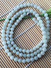 30inch Certified 100% Natural 6mm A jade Bead Beads Necklace A+++