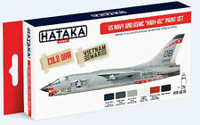 Hataka AS18 US Navy & USMC 1950s to 1970s High-Viz Camouflage Paint Set 6 Colors